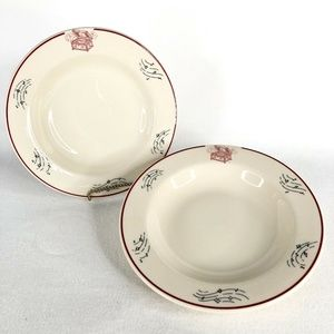 Shenango China Set of 2 Soup Bowls Music Box Notes
